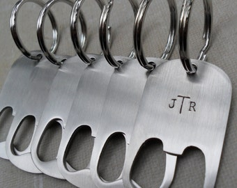 Groomsmen Gifts Men's Bottle Openers Custom Initials SET of 5+ Wedding Groomsmen Gifts