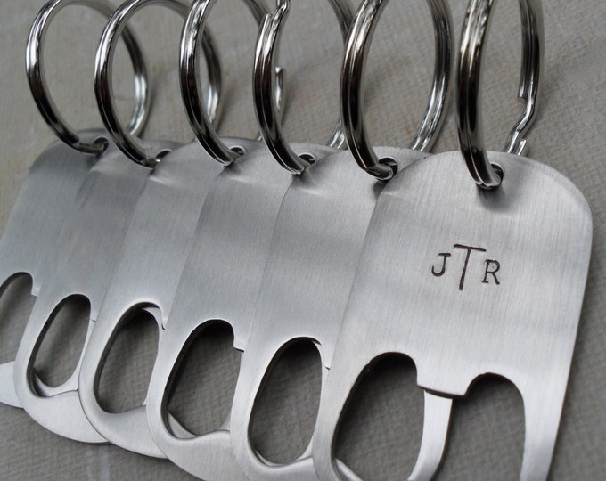 7 Custom Groomsmen Gifts Men's Bottle Openers Custom Initials SET of 7 Wedding Groomsmen Gifts