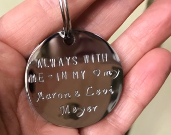 Memorial gift keychain - in memory of a lost loved one stainless steel keychain - custom Memorial gift