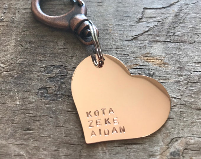 Rose Gold Heart Purse Charm Mothers Day gift