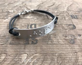 Personalized Women's Braille Bracelet Personalized Friendship Bracelet Custom Message