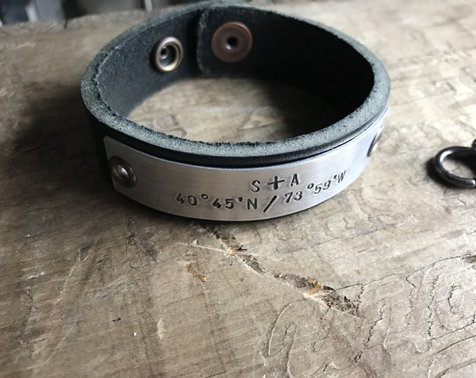 Personalized Mens Leather Bracelet Custom Bracelet Men's Women's Leather Bracelet Customized