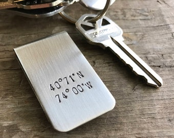 Personalized Money Clip Custom Initials Moneyclip One Inch Wide Money Clip Personalized Graduation Gift