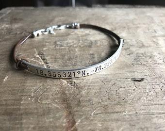 Personalized Women's bracelet Sterling Silver Bracelet Custom Bracelet Memorial Bracelet