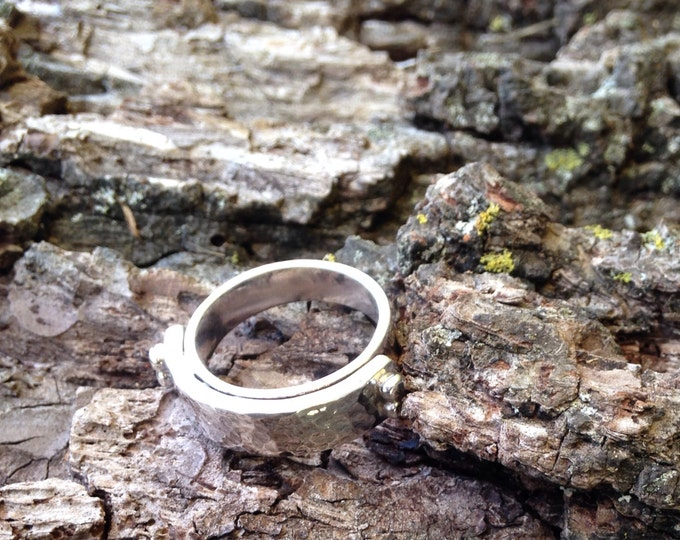Size 9 Mens Ring Fu** Off ***Warning **Mature Ring || Sterling Silver Forged Ring
