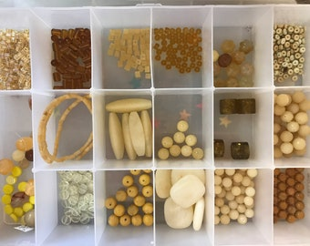 Huge lot of yellow bead DESTASH Jade  jasper seed horn glass carved Gemstones mustard yellow lemon
