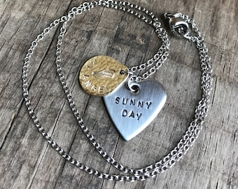 Memorial In Memory Necklace Personalized Stainless Steel Necklace Heart and wing charm