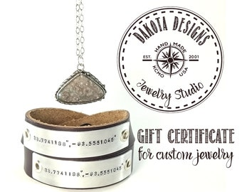 25 dollar gift certificate For Custom Jewelry & personalized gifts