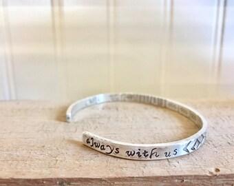 Memorial In Memory Bracelet Personalized sterling silver Memorial bracelet