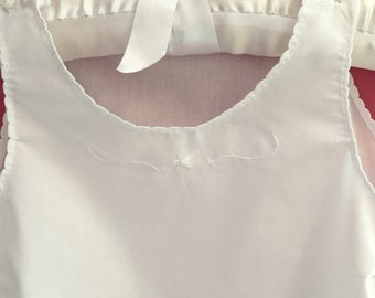 Christening gown slip with hand embroidery