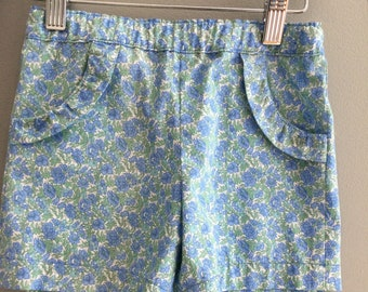 Size 4 shorts for girls - blue floral shorts