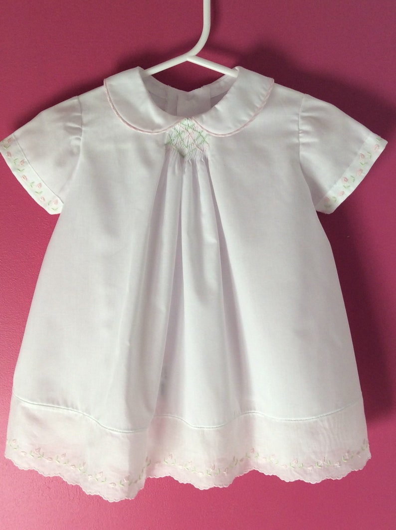 A Touch Of Smocking Hand Smocked Baby Dress Size 18 Months Etsy