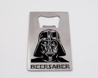 "Star Wars Inspired ""Beer Saber"" Darth Vader Credit Card Bottle Opener - FREE SHIPPING in the USA"