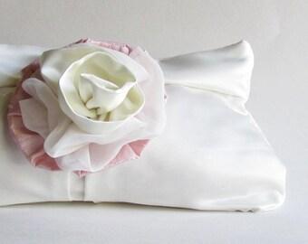 Ivory Wedding Clutch - Bride's Clutch - Fall Wedding