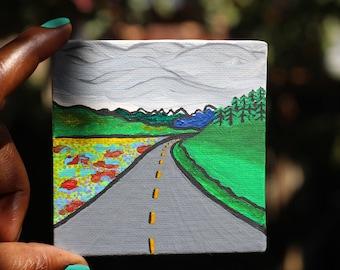 Mini Create Sunshine Painting of a Road in Yukon Canada