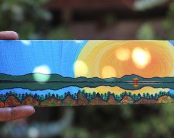 Mini Create Sunshine Reflection Painting in Willow Creek, Alaska