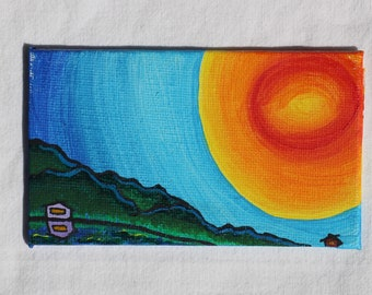 Mini Create Sunshine Reflection Painting