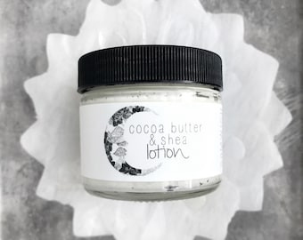 Organic Whipped Cocoa & Shea Butter Lotion // All Natural // Vegan