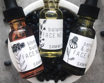 Organic Face Nectar Sensitive/Dry Skin Balancing Blemish Busting Face Oil Face Serum