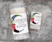 Organic Sage & Bergamot Deodorant // All Natural // Aluminum-Free // Small + Large