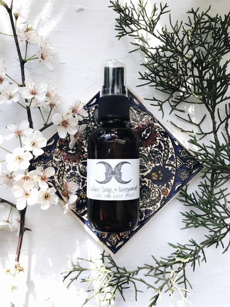 Organic Cedar Sage & Bergamot Home And Body Spray // All image 0