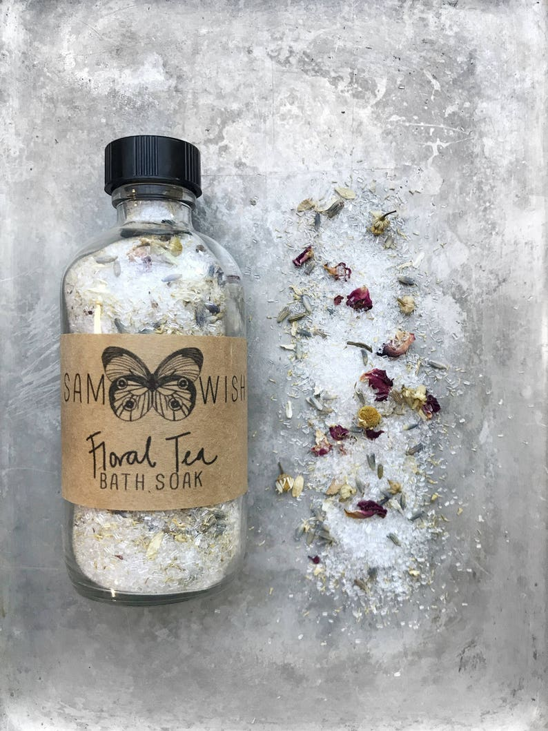 Floral Tea Bath Soak // All Natural // Organic // Vegan image 0
