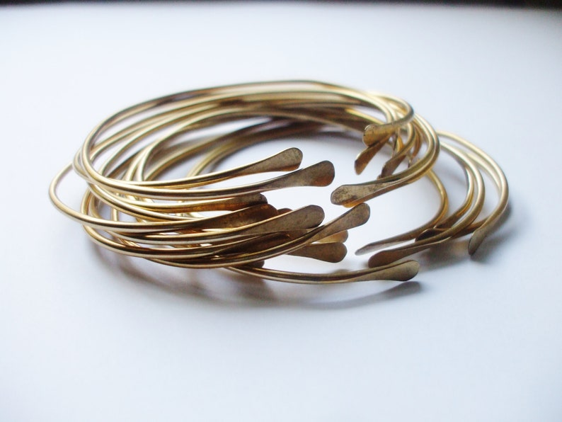 The ULTIMATE 5 Brass Stacking Bangles // Sexy Bohemian image 0