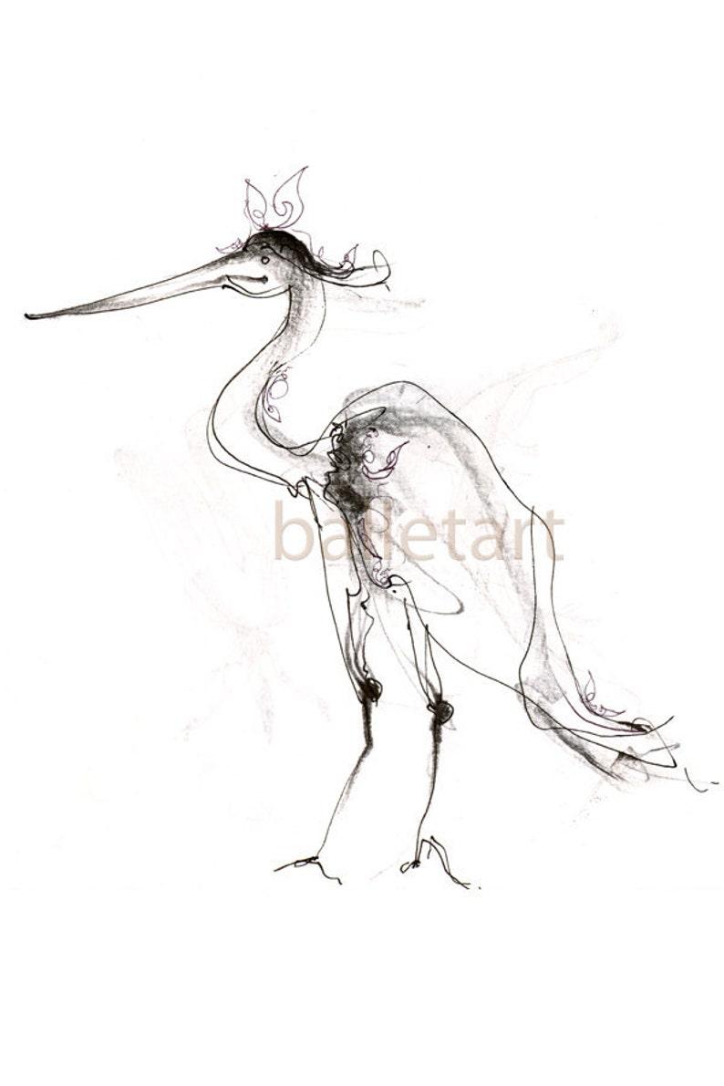 Couture flamingo art bird art pencil drawing black and white art art print flamingo print bird illustration bird artwork animal art