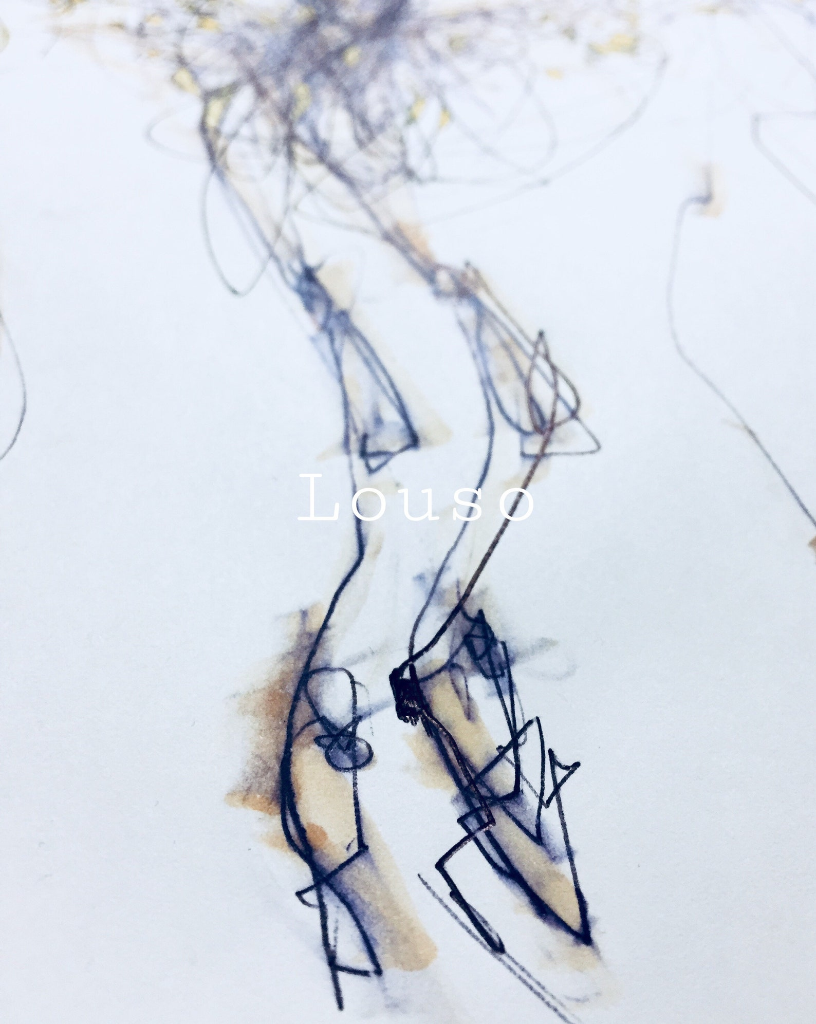 ballet art, art print, feet sketch, ballerina, pointe shoe, abstract art, figure drawing, wall art, contemporary art, dance gift