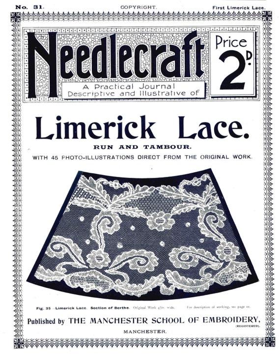 Antike Limerick Spitze Muster Bordüren praktische Journal Nr.