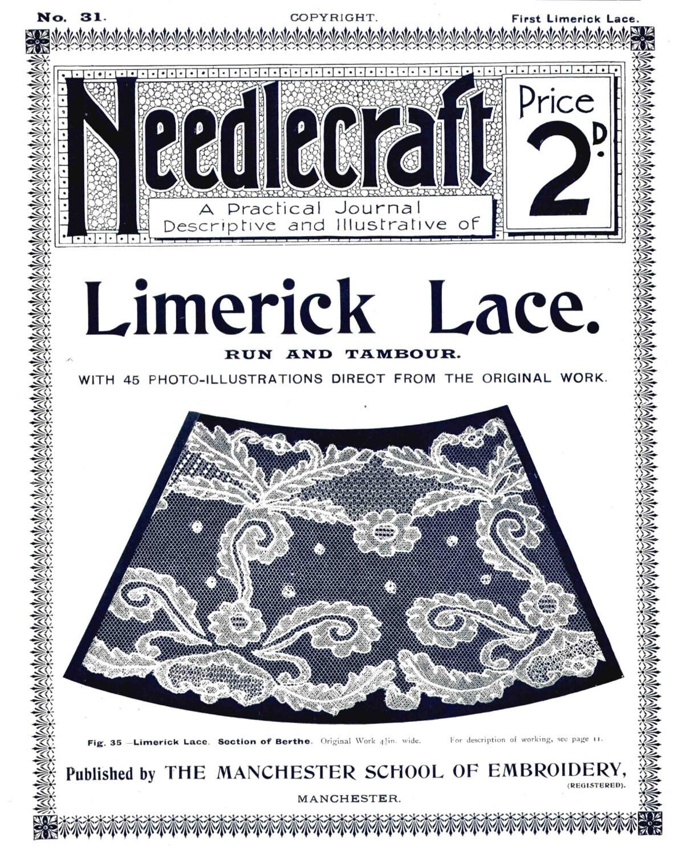 Limerick antiguo encaje patrones bordados revista práctica Nº   Etsy