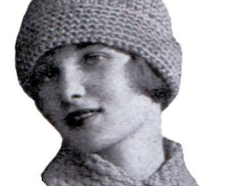 1920 Dinsley Hat Knit Pattern Downton Abbey Era Instant Download The Dinsley Hat