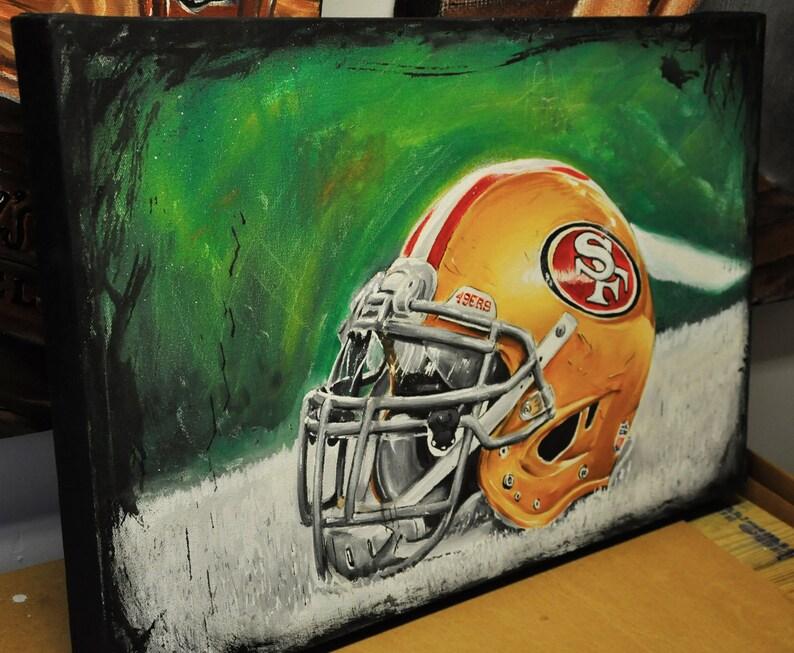 JEREMY WORST Custom NFL Helmet Painting Original Acrylic image 0