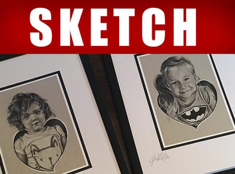 Custom Commission Portrait Drawing custom Sketch by JEREMY image 0
