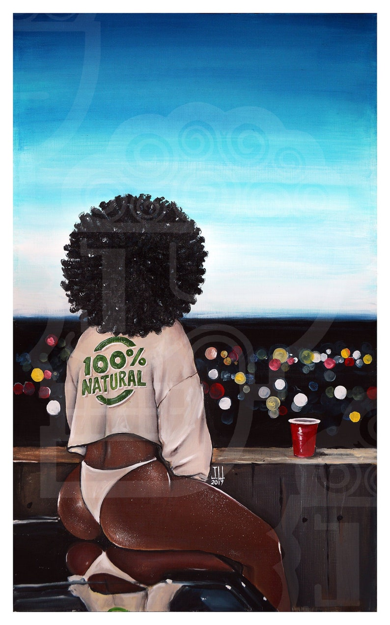 JEREMY WORST 100% Natural African American girl pretty afro image 0