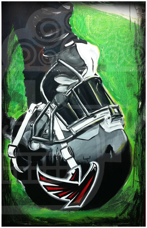 JEREMY WORST Atlanta Falcons Painting Fine Art Print Artwork image 0