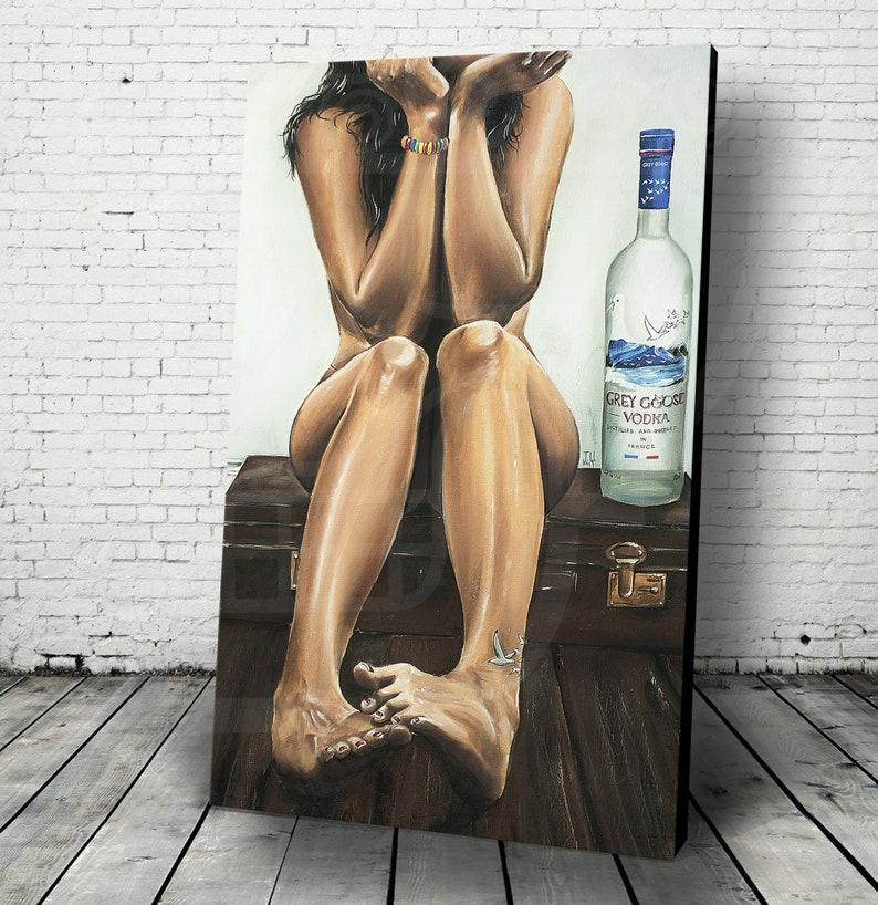 JEREMY WORST Naked Goose Grey Goose Sexy girl Artwork Fine Art image 0