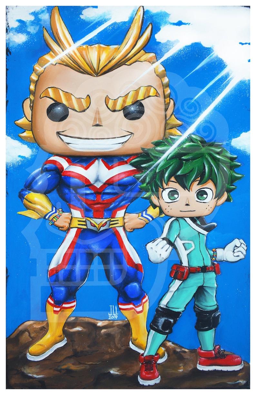 Jeremy Worst My Hero Academia All Might Deku  anime cartoon image 0