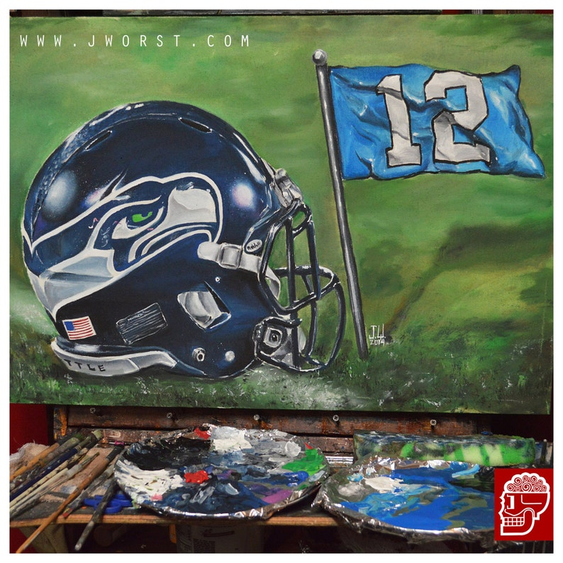 CUSTOM NFL HELMET Painting gift present awesome jeremy worst image 0