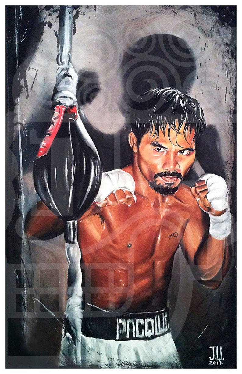 JEREMY WORST Manny Pacquiao Boxing Canvas Prints Artwork image 0