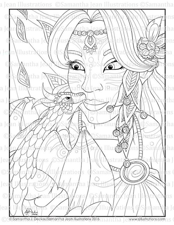 31 Fantasy Adult Coloring Pages - Free Printable Coloring Pages