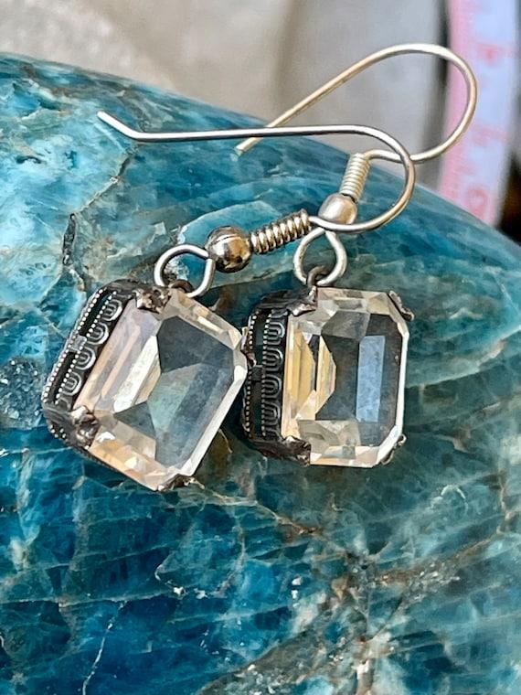Beautiful Authentic Art Deco Sterling Silver Quartz Rock Crystal Marcasite Vintage Antique Brooch Art Deco Jewelry