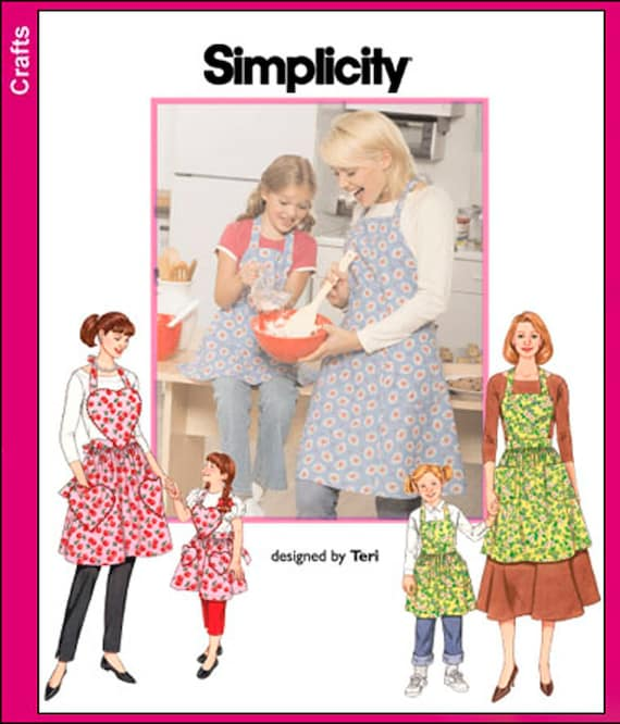 Apron Pattern Simplicity 40 Mommy And Me Apron Pattern Etsy Adorable Simplicity Apron Patterns