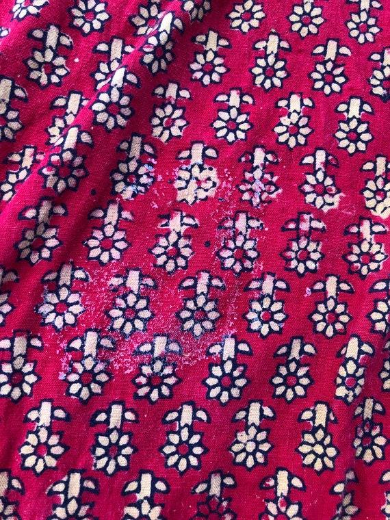 Vintage Cotton Gauze Indian tunic top / mini dres… - image 7