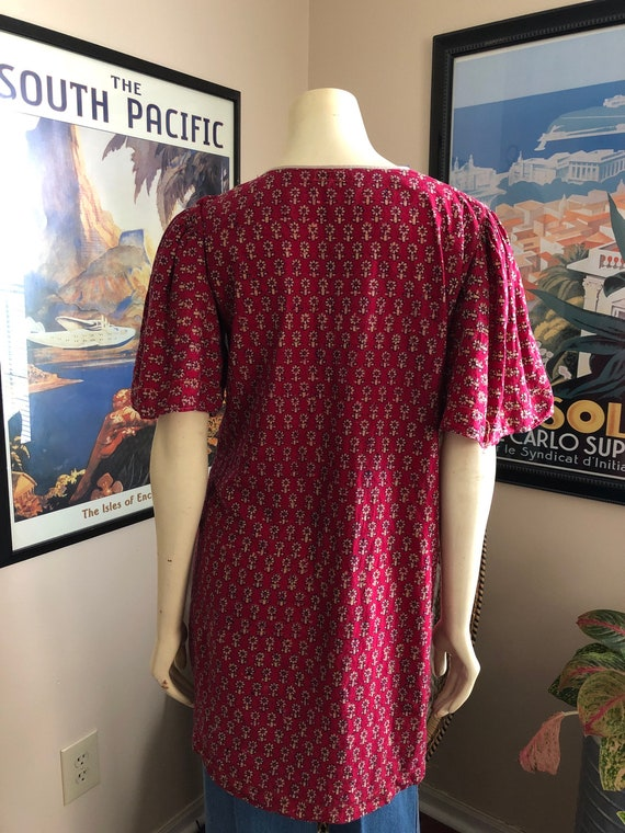 Vintage Cotton Gauze Indian tunic top / mini dres… - image 4