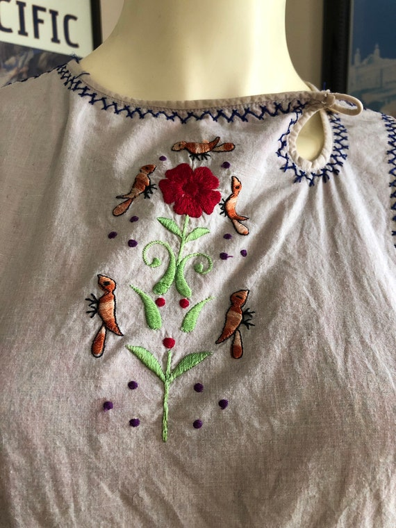 Vintage Cotton Gauze Indian tunic top / mini dres… - image 3