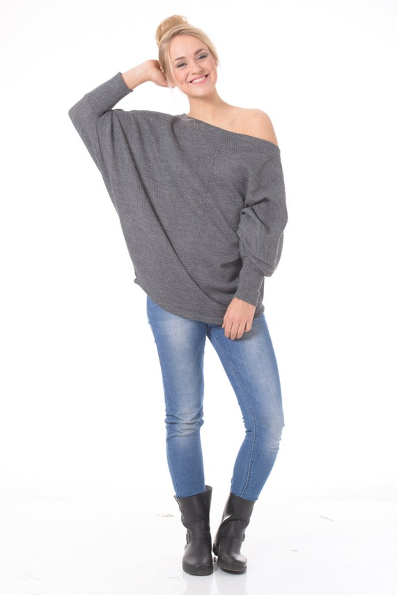 c27d1f9f8c5a5 Free shipping Plus size sweater Off the shoulder sweater