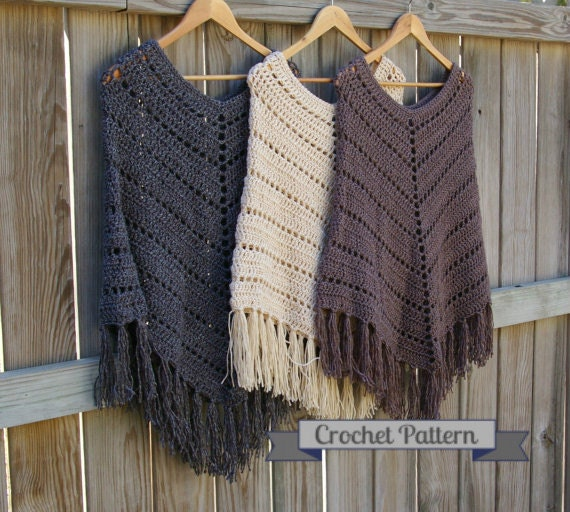 Crochet Pattern Boho Poncho Pattern Crochet Poncho Pattern Instant Download Extraordinary Crochet Poncho Pattern