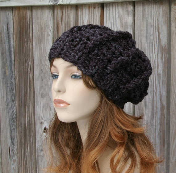 Crochet Pattern Chunky Slouchy Hat Crochet Hat Pattern Etsy