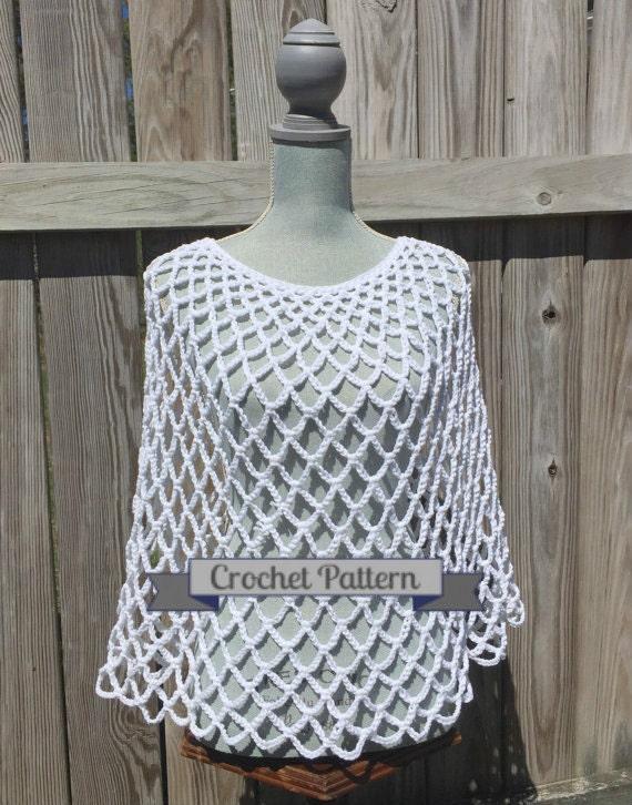 Crochet Pattern Summer Poncho Pattern Crochet Poncho Pattern | Etsy